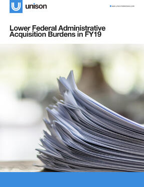 Lower Federal Administrative Acquisition Burdens in FY19-Cover